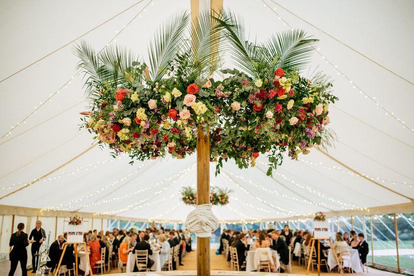 Inside the wedding tent