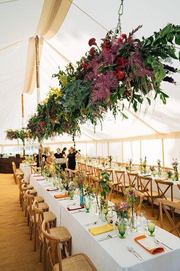 Inside the wedding tent 2