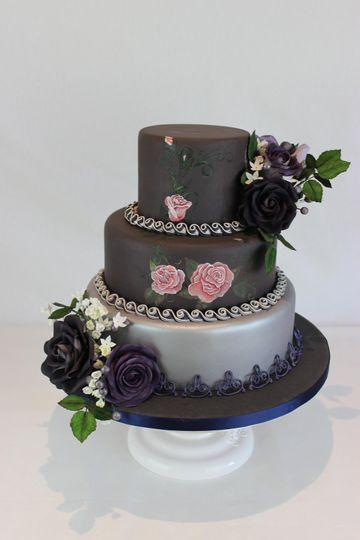 Gothic themed wedding cake