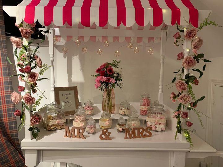 Elegant sweets trolley