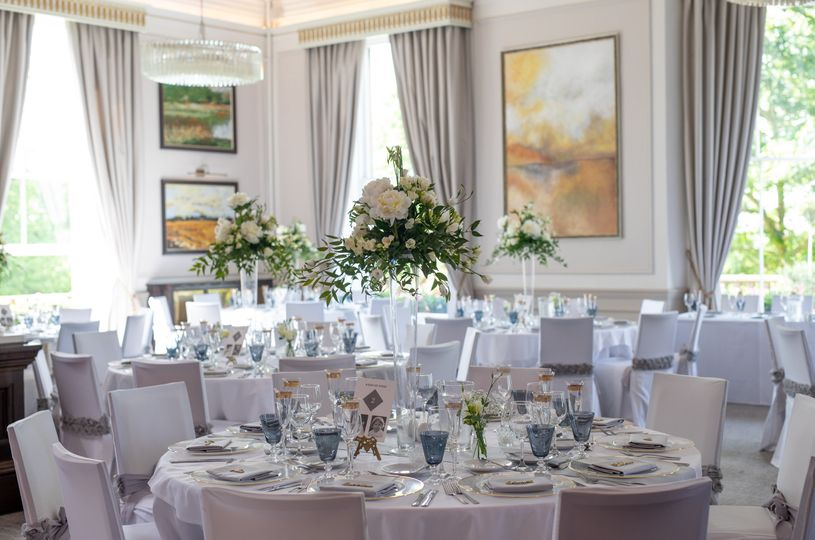The Mulberry suite set for a wedding reception