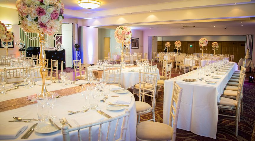 The York Suite set for a wedding reception
