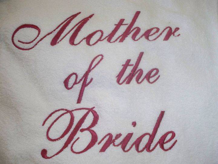 Mother of the Bride , back of robe