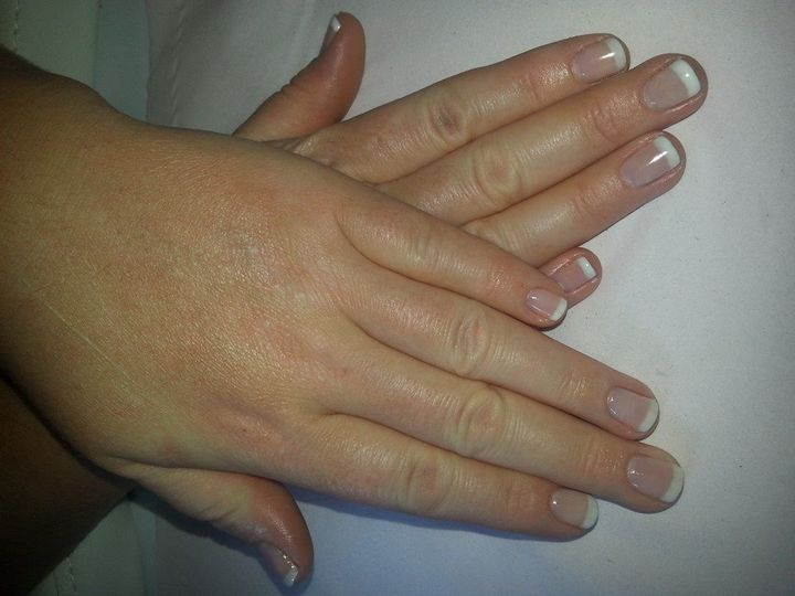 Gelish french manicure with hayley pover