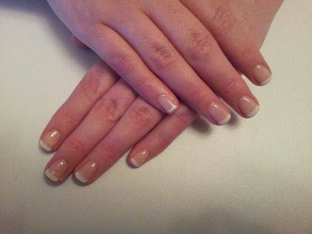 Gelish french manicure with Sally Snowball