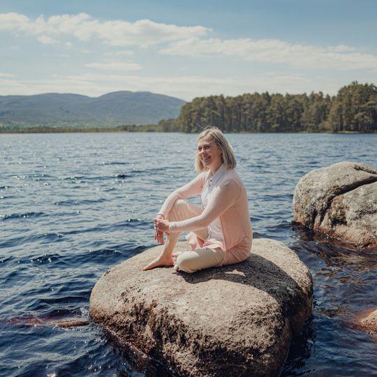 Lindsay at Loch Garten