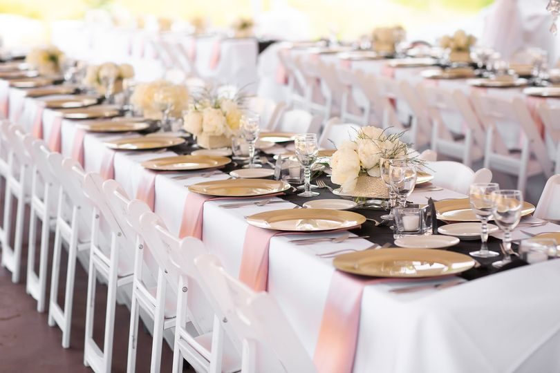 Lovely floral centrepieces