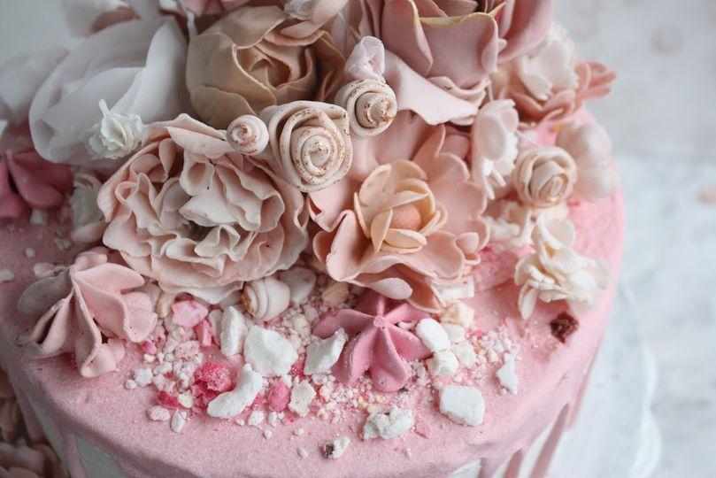 Blush boho cake