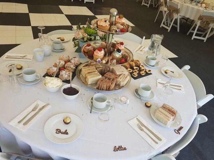 Afternoon tea wedding table