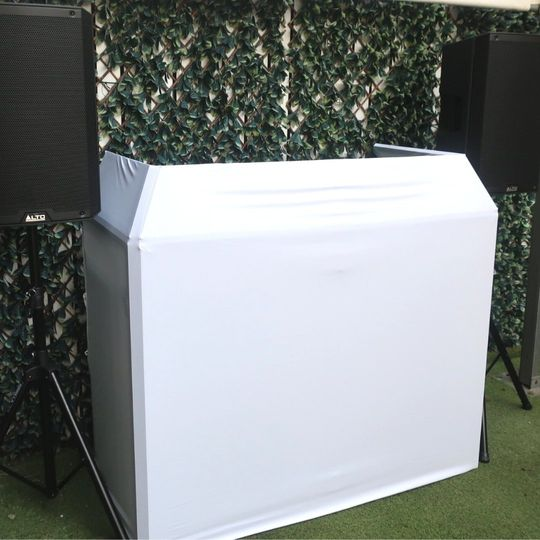White DJ booth