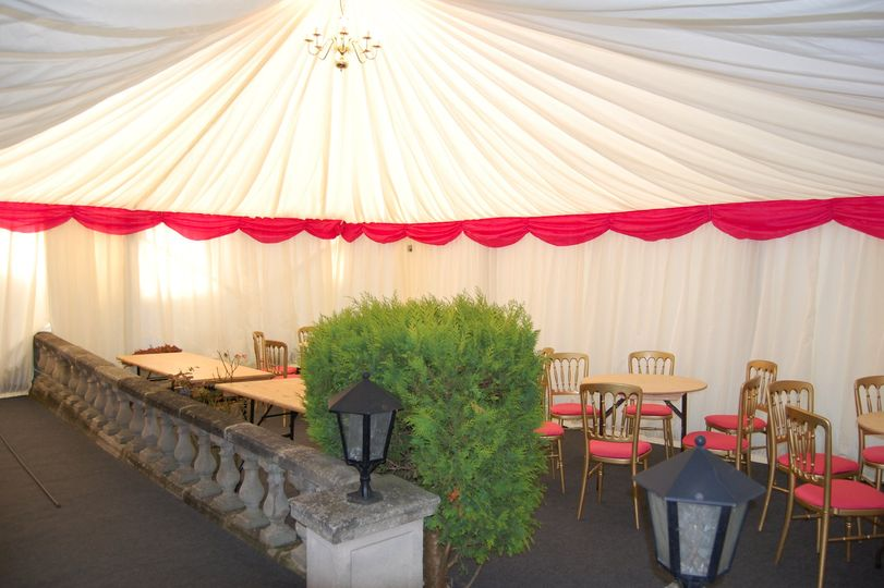 Marquee Built Over Walls