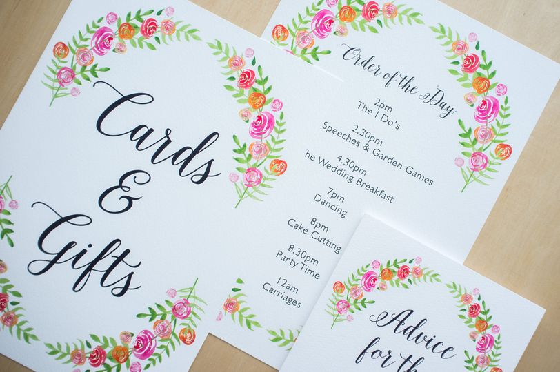 Bespoke Floral Invitation