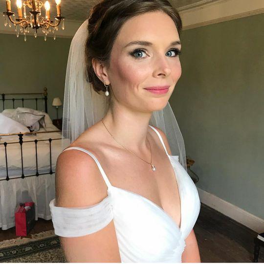 Bridal makeup in Wales
