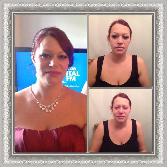 Bridesmaid make-up with lashes