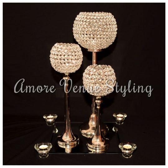 Centrepiece Crystal Globes