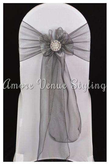 Wedding Silver Sash