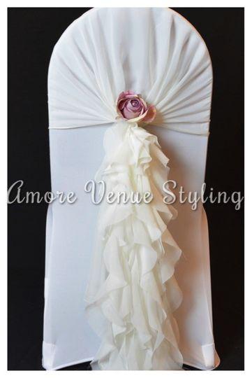 Wedding Chair Cover Ruffle