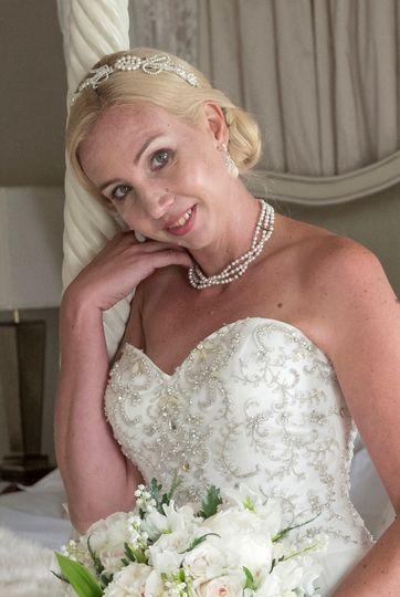 Madeleine tiara & pearl choker