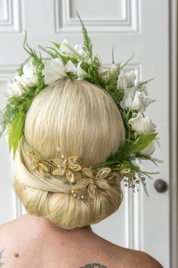 Rapunzel with floral crown