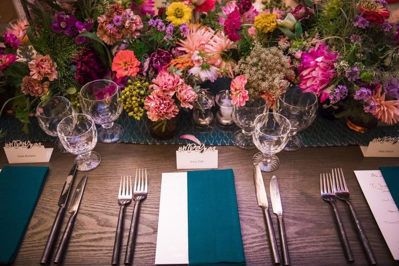 Rustic themed table design