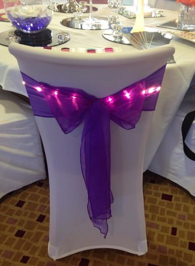 Organza sash with lights