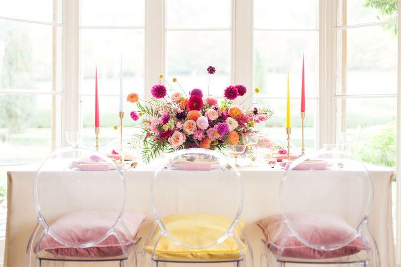 Vibrant floral installations
