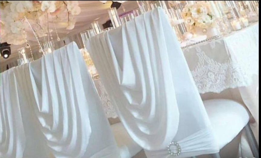 Swag chair covers