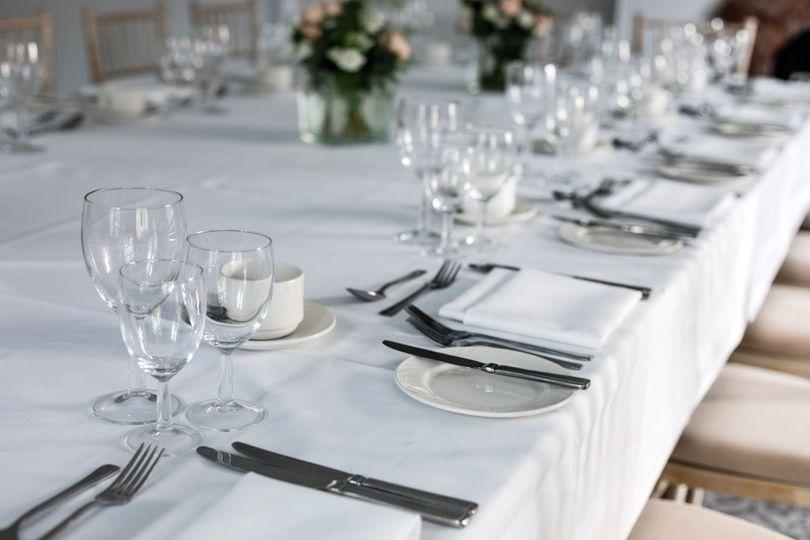 Wedding Breakfast set up