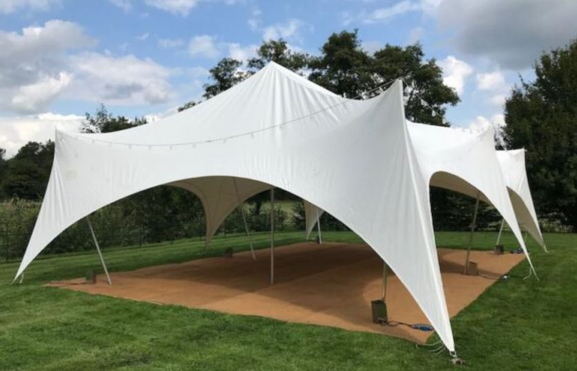 Outdoor marquee for party