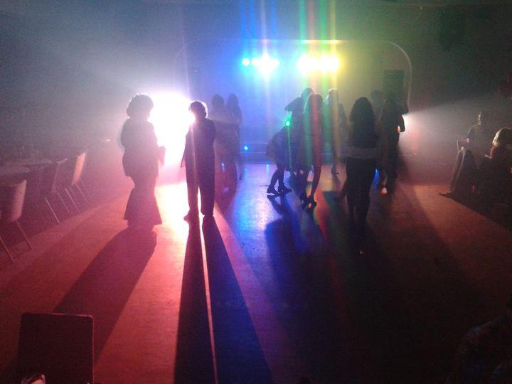 Start of an evening lightshow