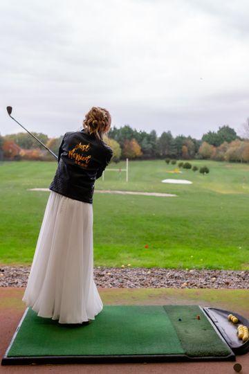Brides shot on the range