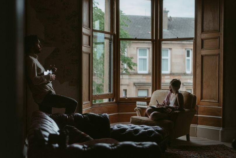 Glasgow old flat preparing