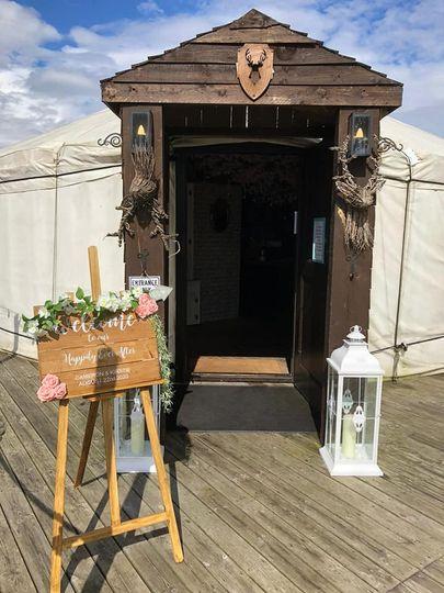 The Salix Yurts Entrance