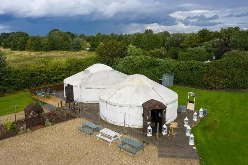 The Salix Yurts Over Head