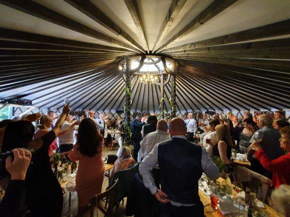 The Salix Yurts Inside