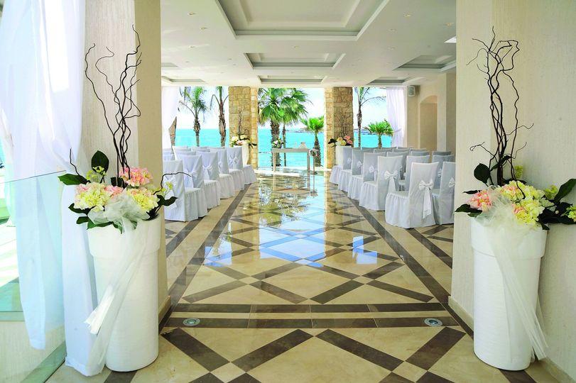 Semi covered wedding ceremony