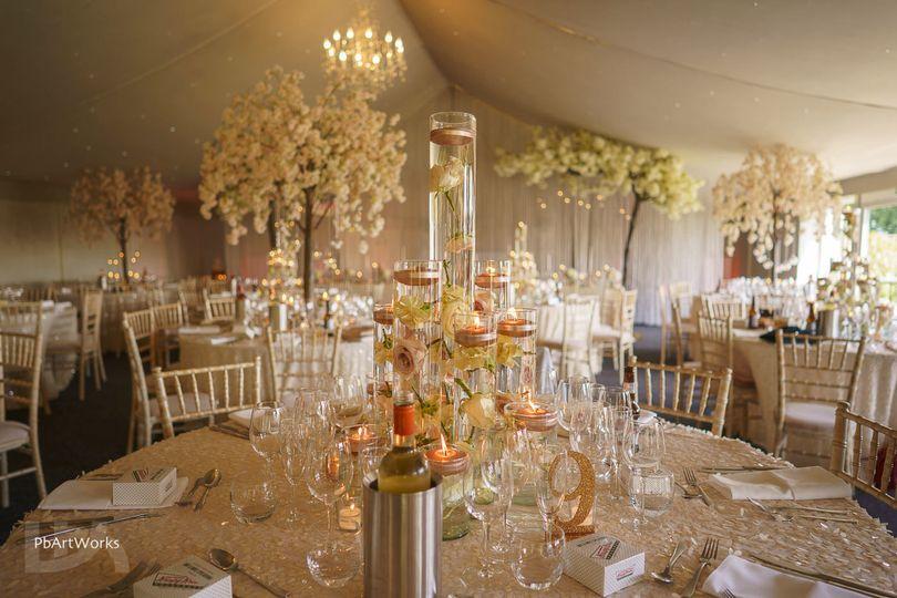 Luxury marquee reception