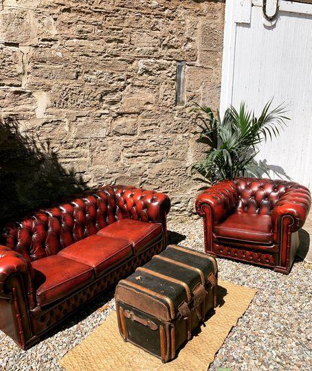 Plush leather seating