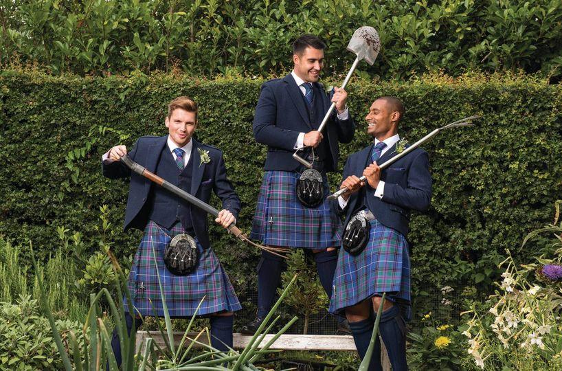 Scottish wedding attire