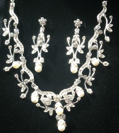 Pearl and diamante