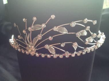 diamante and lace tiara