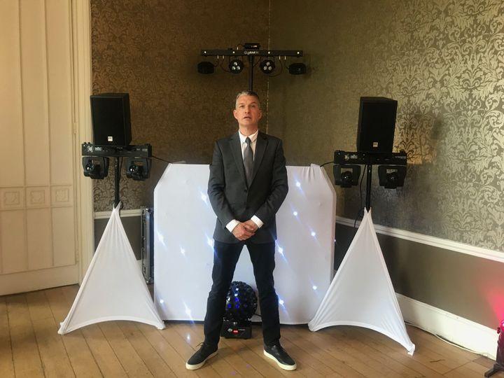 White DJ set up