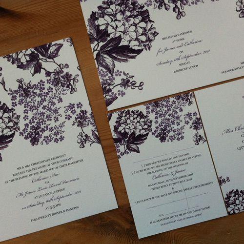 Blooms wedding invitation