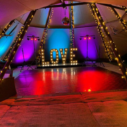Dancefloor and lighting
