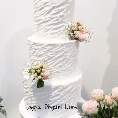 Textured Finish Wedding Cake