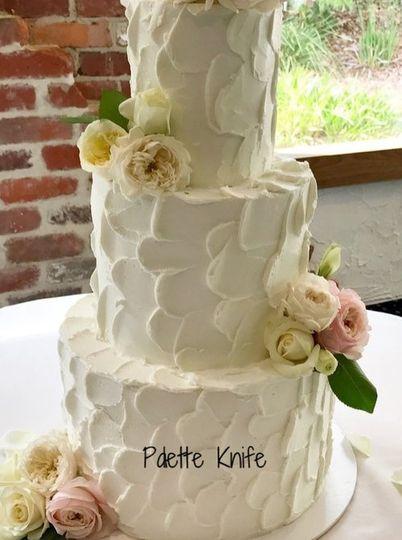 Palette Iced Wedding Cake