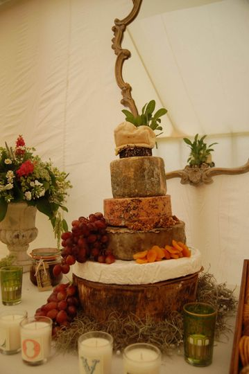 Seasons catering cheese tower