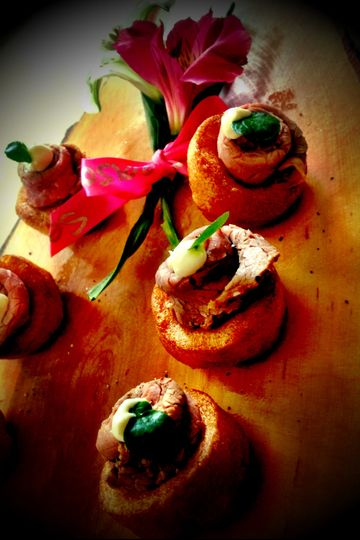 Seasons catering canapes