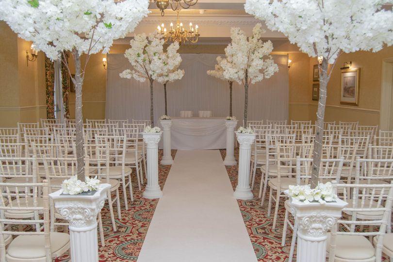 Civil Ceremony in the Rose Room