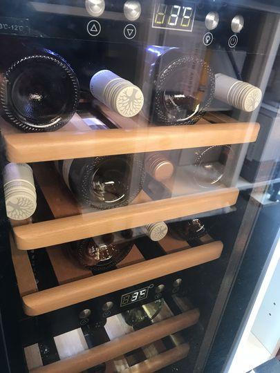 Wine fridges in action